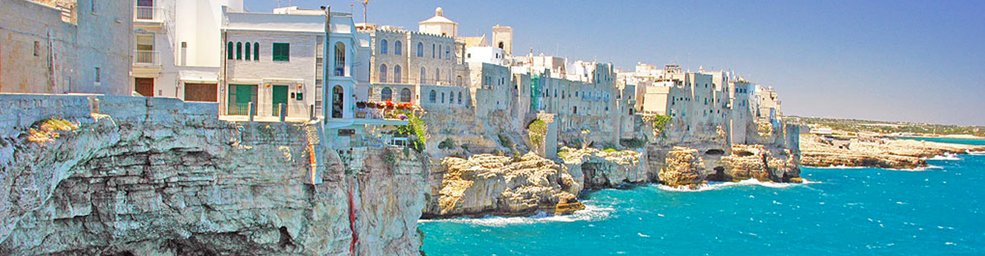 The Coastline of Apulia in Southern Italy