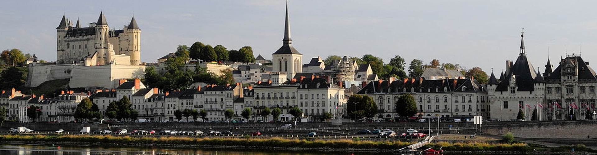 The Historic Town of Saumur in the Loire Valley, France
