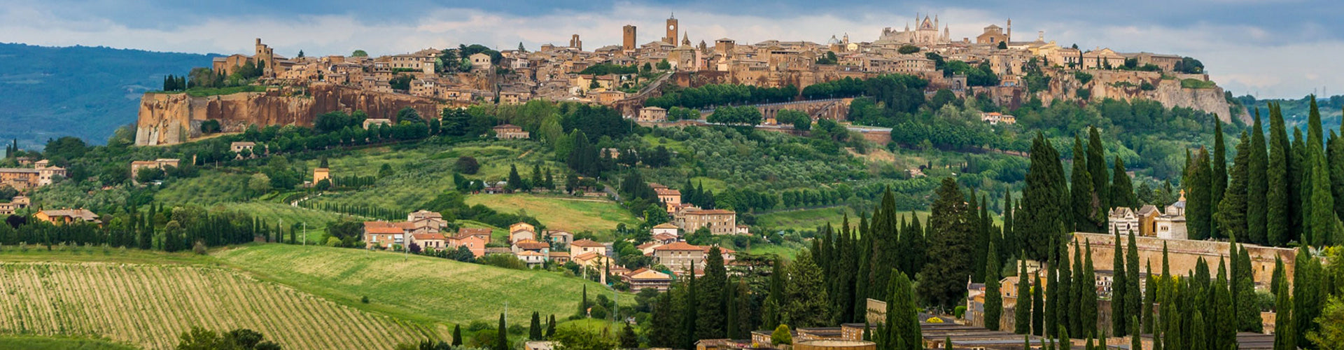 Panoramic View of the medieval town, Orvieto, in Umbria