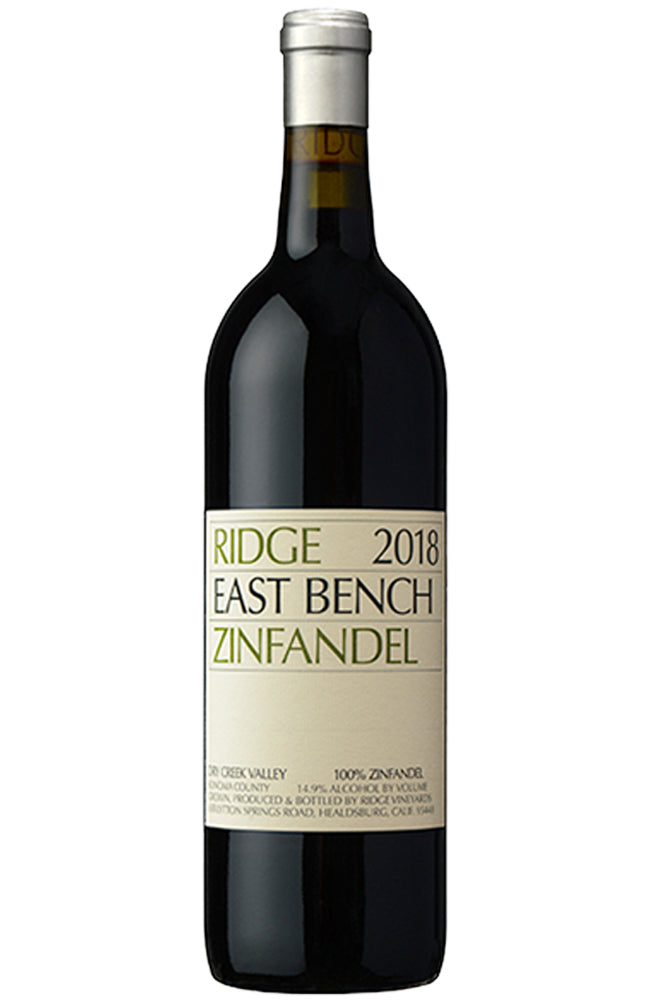 Ridge Vineyards East Bench Zinfandel 2018 Bottle
