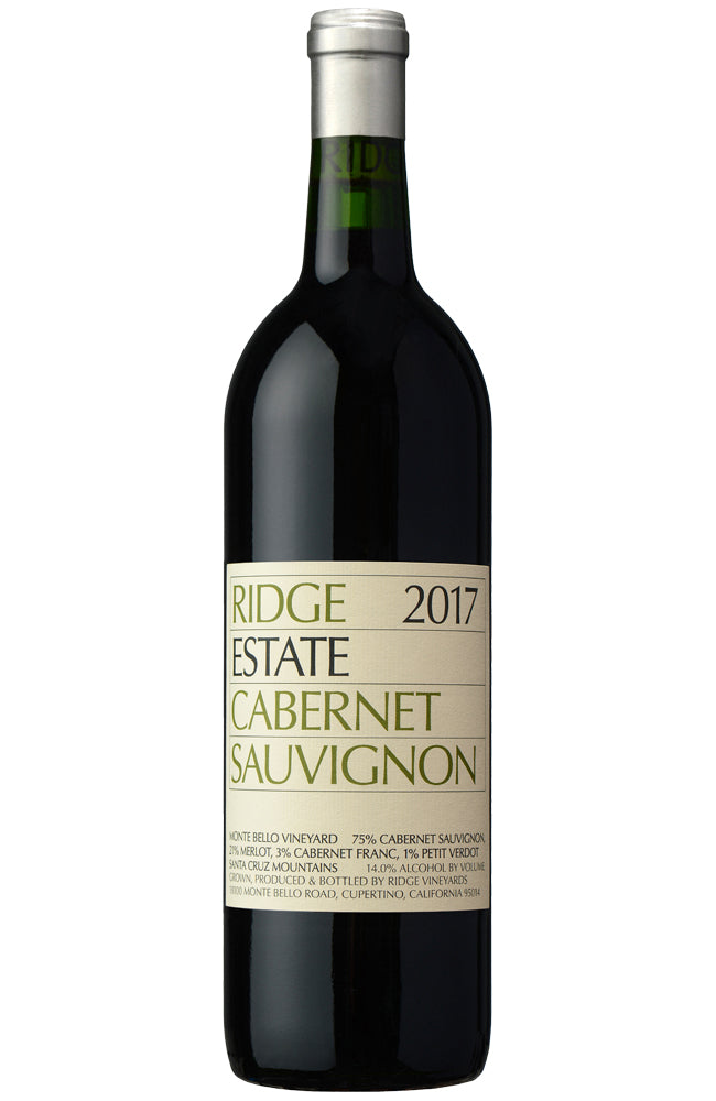 Ridge Estate Cabernet Sauvignon 2017 Bottle