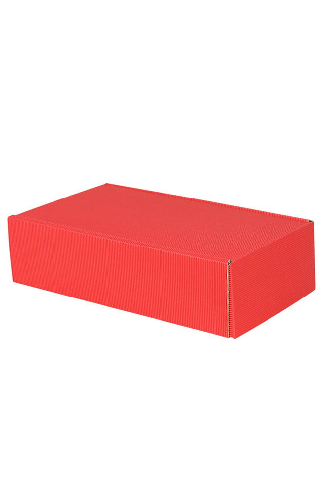 Two Bottle Wine Gift Box in Fluted Red Card
