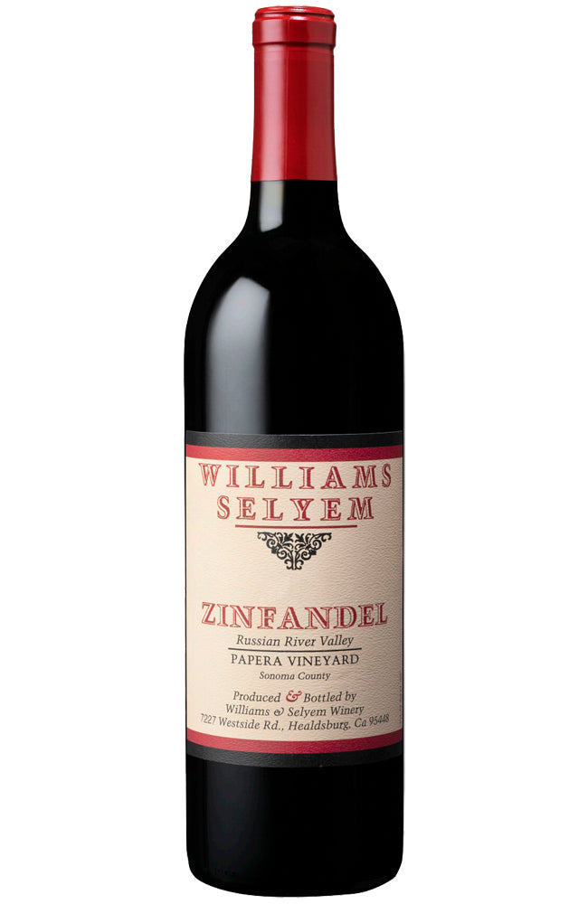 Williams Selyem Papera Vineyard Zinfandel Bottle