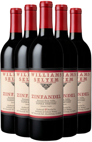 Williams Selyem Papera Vineyard Zinfandel 6 Bottle Case