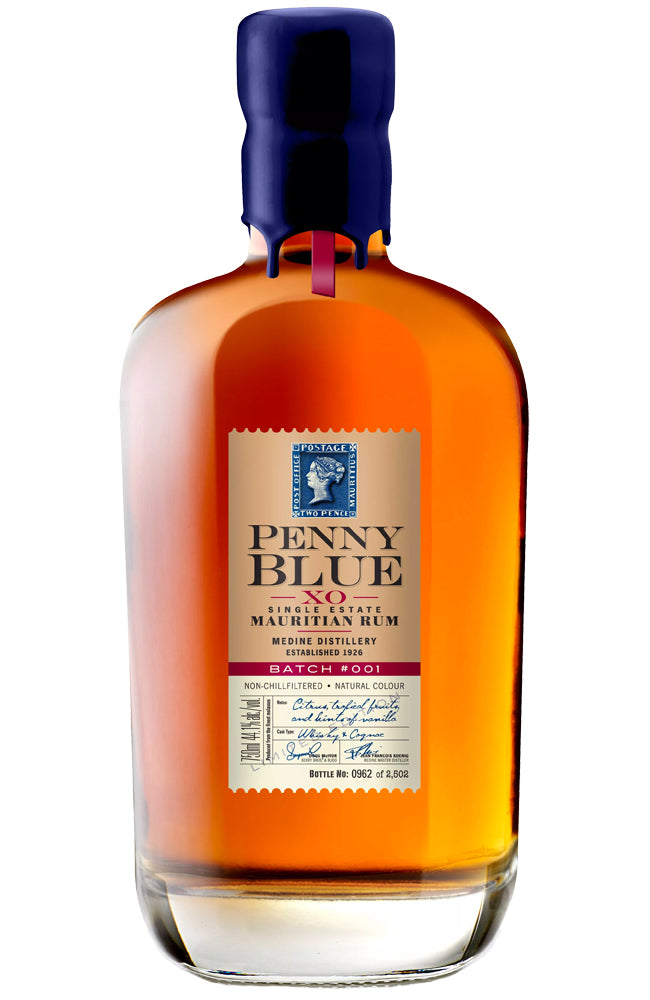 The Indian Ocean Rum Company Penny Blue XO Mauritian Rum