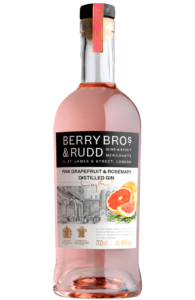 Berry Bros. & Rudd Pink Grapefruit & Rosemary Distilled Gin