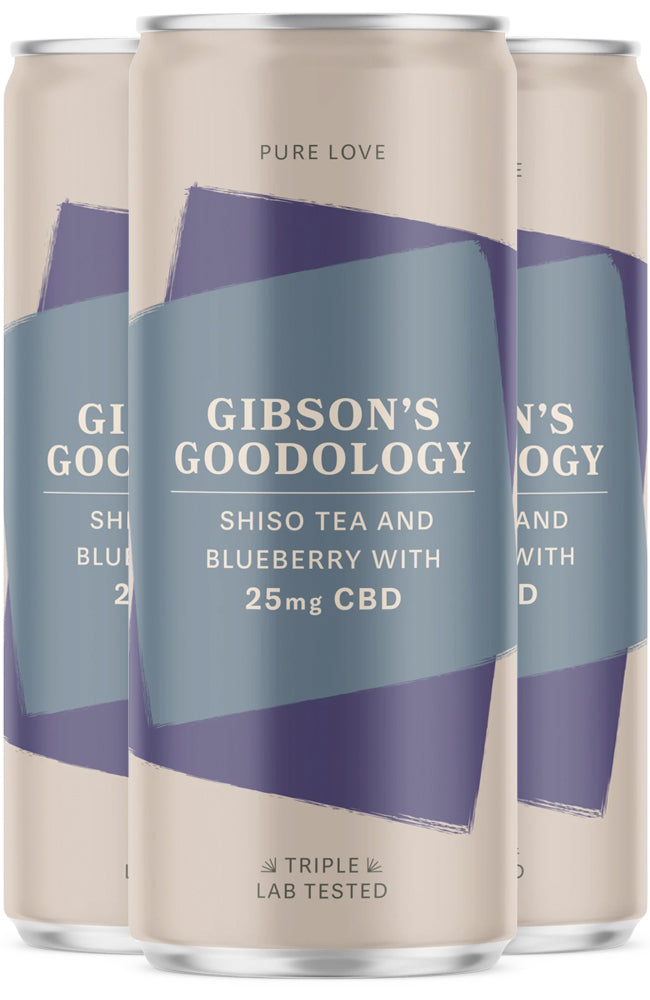 Gibson's Goodology Pure Love Shiso Tea & Blueberry CBD Drink