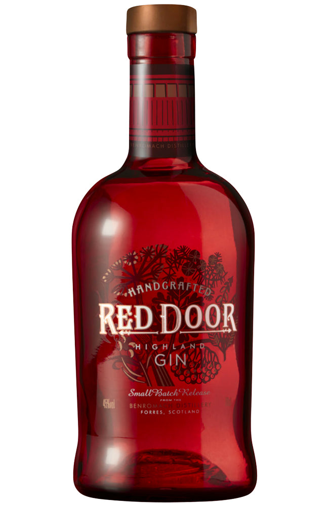Red Door Handcrafted Small Batch London Dry Gin from the Scottish Highlands