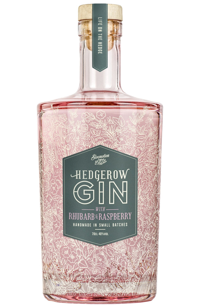 Sloemotion Hedgerow Gin with Rhubarb & Raspberry