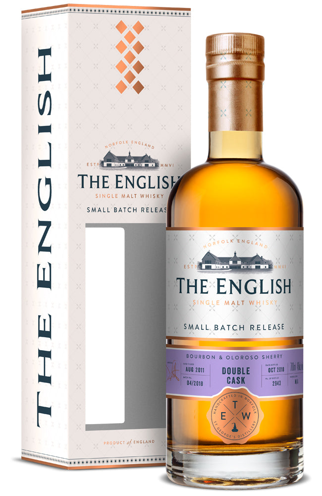 The English Small Batch Release Double Cask Single Malt Whisky (Gift Boxed)