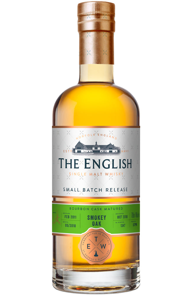 The English Whisky Co. Small Batch Release Smokey Oak Bourbon Cask Single Malt Whisky