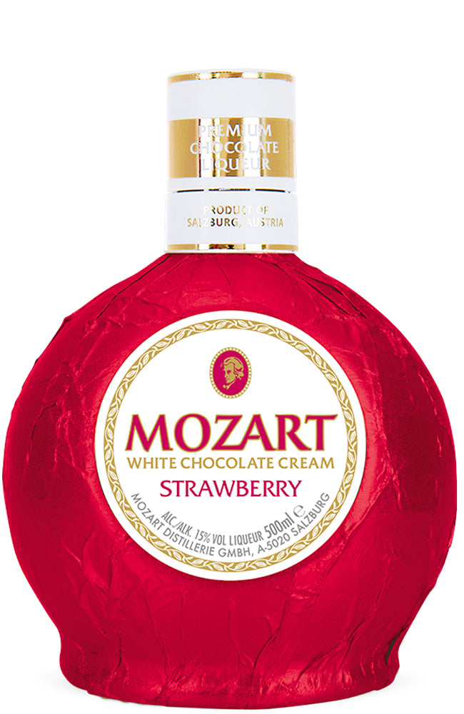 Mozart Strawberry White Chocolate Cream Liqueur