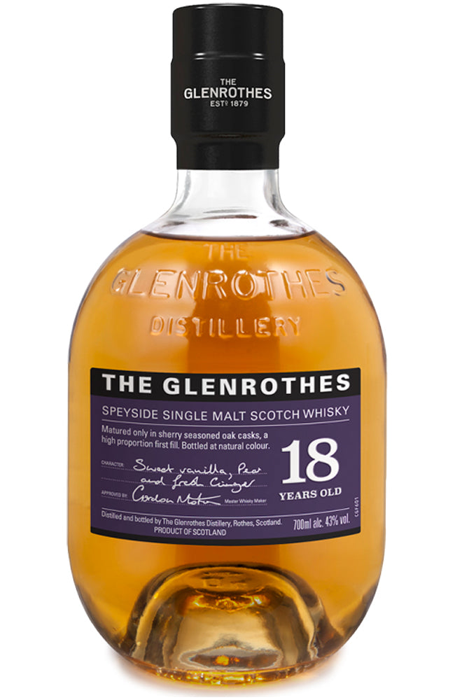 The Glenrothes 18 Year Old Speyside Single Malt Scotch Whisky