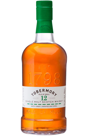 Tobermory 12 Year Old Isle of Mull Single Malt Scotch Whisky Bottle