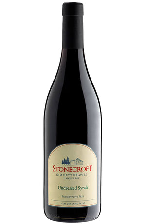 Stonecroft Undressed Syrah Sulphur Free Red Wine from Hawkes Bay New Zealand