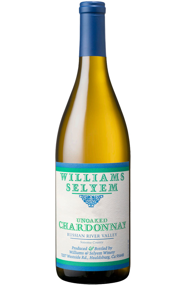 Williams Selyem Unoaked Chardonnay Bottle