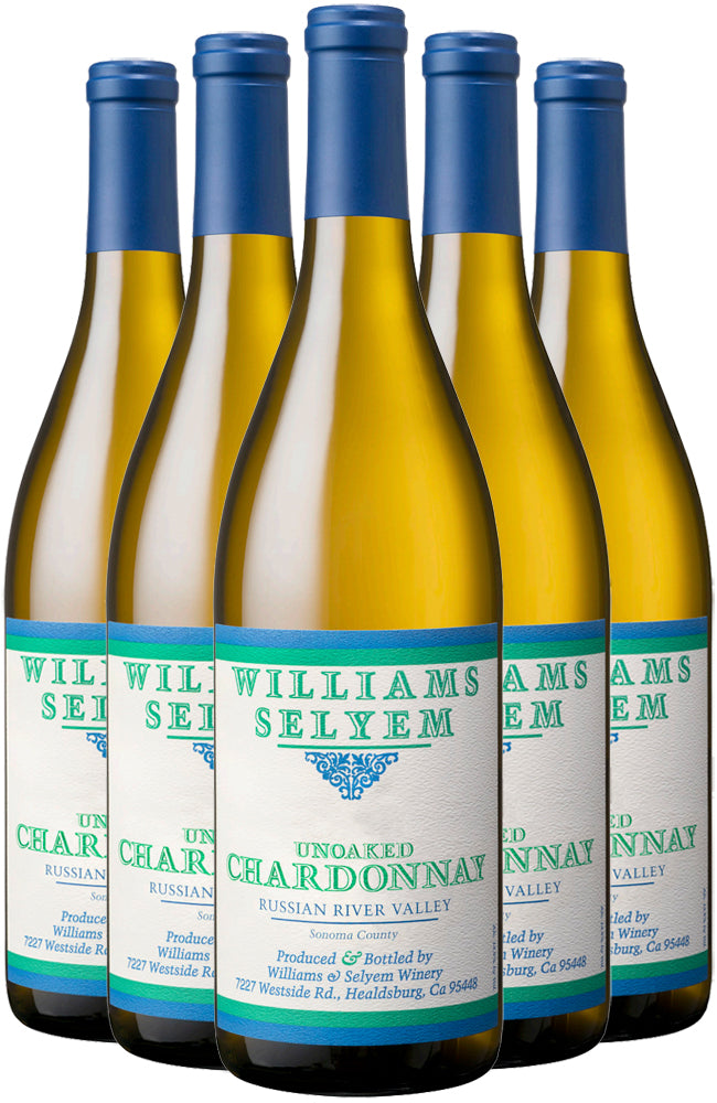 Williams Selyem Unoaked Chardonnay 6 Bottle Case