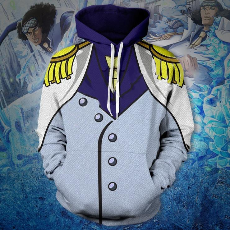 One Piece Aokiji Unisex Pullover Hoodie
