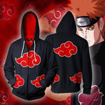 Naruto Hoodies - Black Akatsuki Zip Up Hoodie