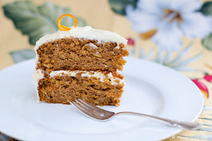 Spiced Maple Carrot Cake with Maple Cream Cheese Frosting