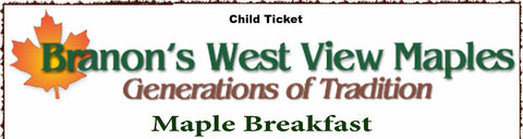 Child Maple Breakfast Ticket