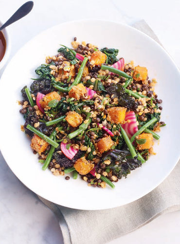 Butternut Squash, Roasted Pepper Pesto & Lentil Salad