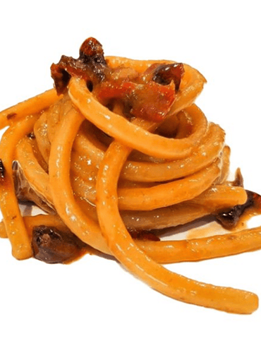 Chitarrone with Red Pepper and Anchovies