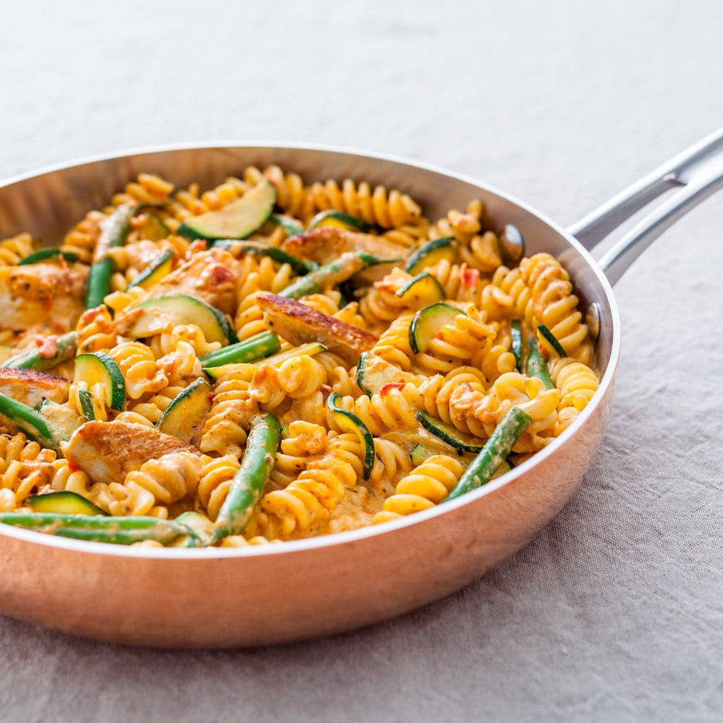 Fusilli With Chicken Roasted Red Pepper Pesto Sauce Recipe Sacla