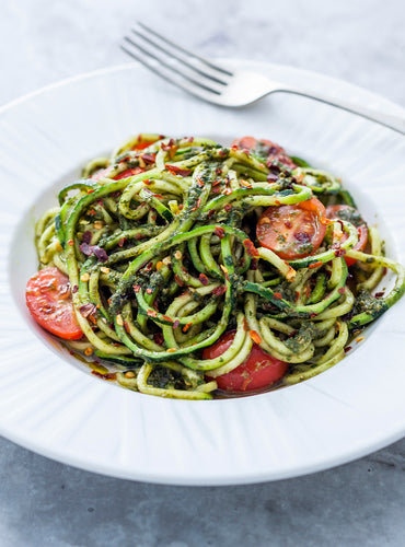 Pesto Courgetti with Chilli