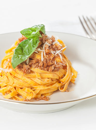 Egg Tagliatelle with Meat Sauce