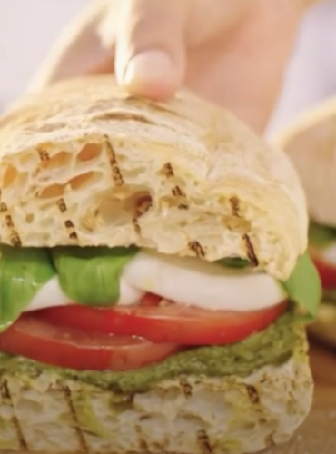 Liven Up Lunch: Basil Pesto Caprese Sandwich