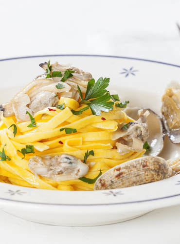 Lemon Tagliatelle with Clams