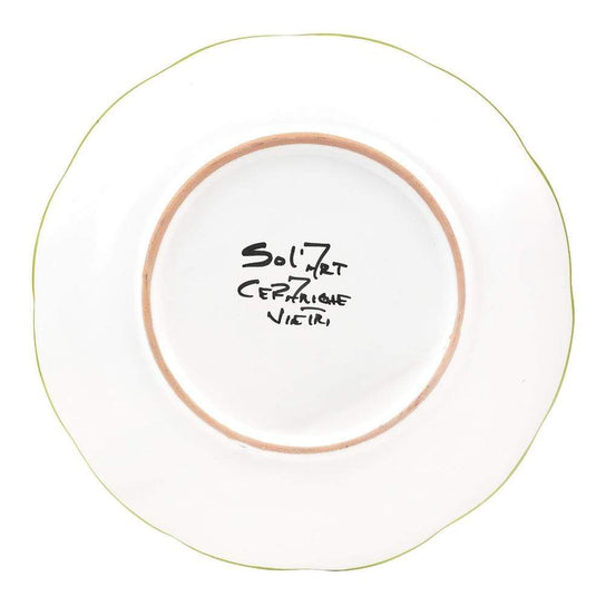 Vietri Place Setting with Bowl, Plate and Side Plate by Sol'Art: Basil Green