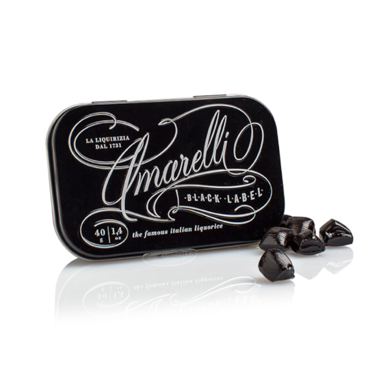 Black Label Gluten Free Liquorice 40g by Amarelli