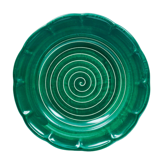 Spiral Pasta Dish 23.5cm in Bottle Green by Sol'Art