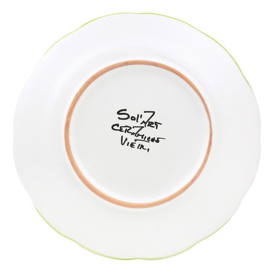 Vietri Place Setting with Bowl, Plate and Side Plate by Sol'Art: Bottle Green