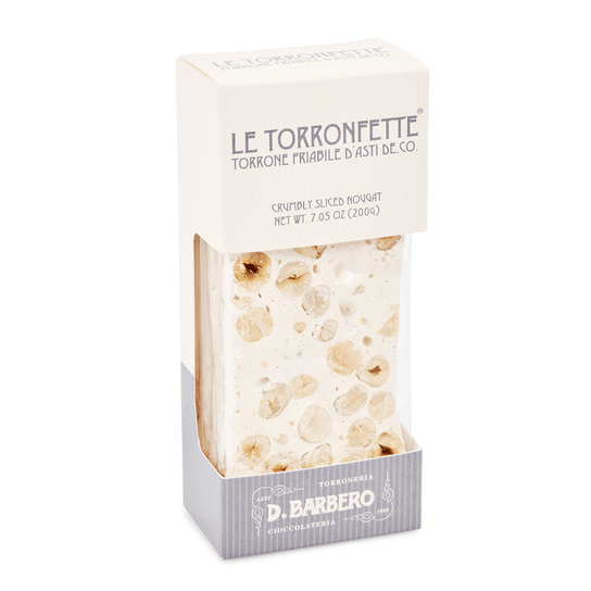 Crumbly Sliced Hazelnut Nougat Torronfetta 200g by D. Barbero