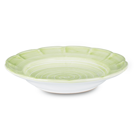 Spiral Pasta Dish 23.5cm in Leaf Green by Sol'Art