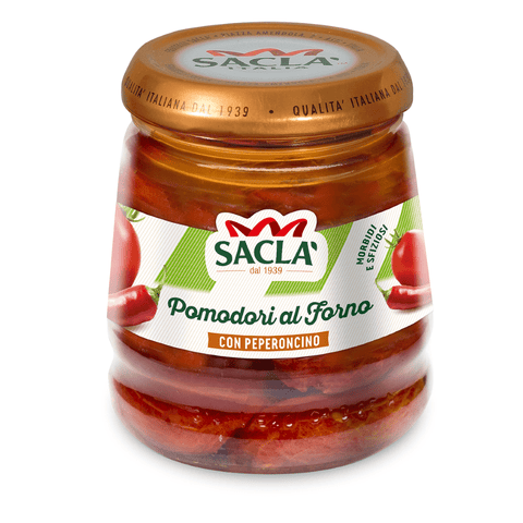 Sacla' Oven-Roasted Tomatoes in Chilli Infused Oil 285g