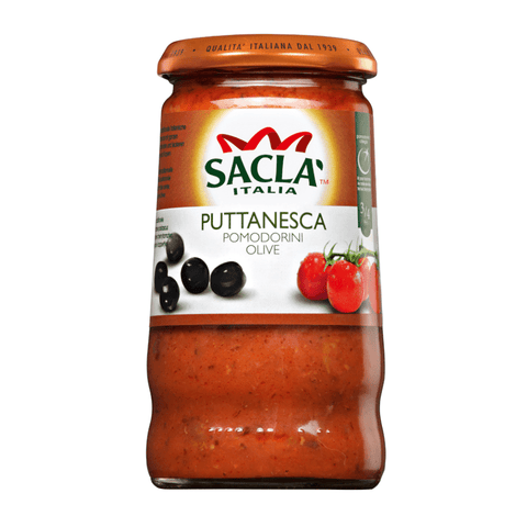 Sacla' Whole Cherry Tomato with Puttanesca 350g