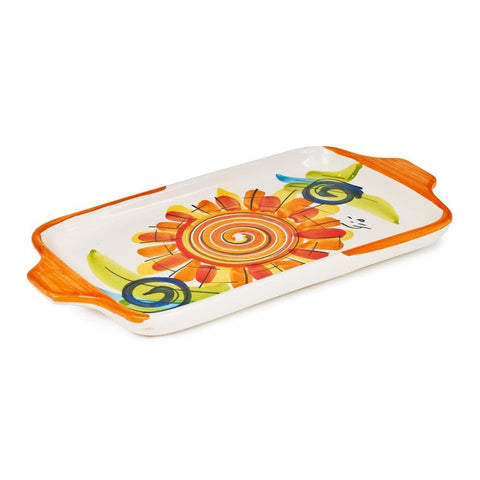 Small Rectangular Dish 19cm by Sol'Art in Orange