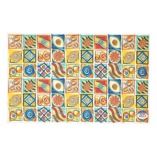 Sacla' Patterned Tea Towel