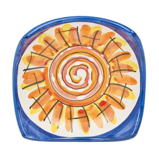 Small Square Dish 10cm by Sol'Art in Sunshine Pattern