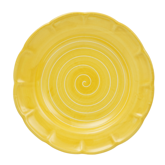 Spiral Pasta Dish 23.5cm in Sunflower Yellow by Sol'Art