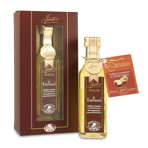 White Truffle Flavoured Olive Oil in Box 100ml by Inaudi