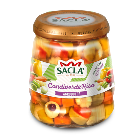 Sacla' Condiverde Sweet & Sour Rice Salad Dressing 290g