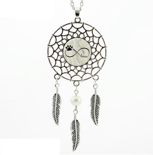 Necklace Dog Paw Dream Catcher Feather Necklace