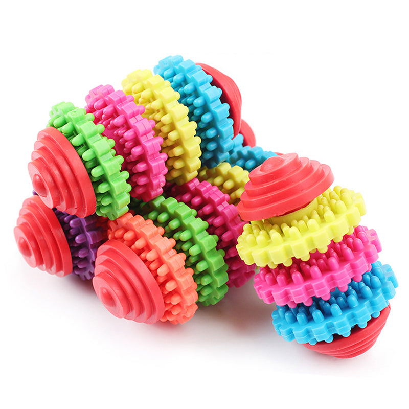Rainbow Dog Gear Revolve Toy