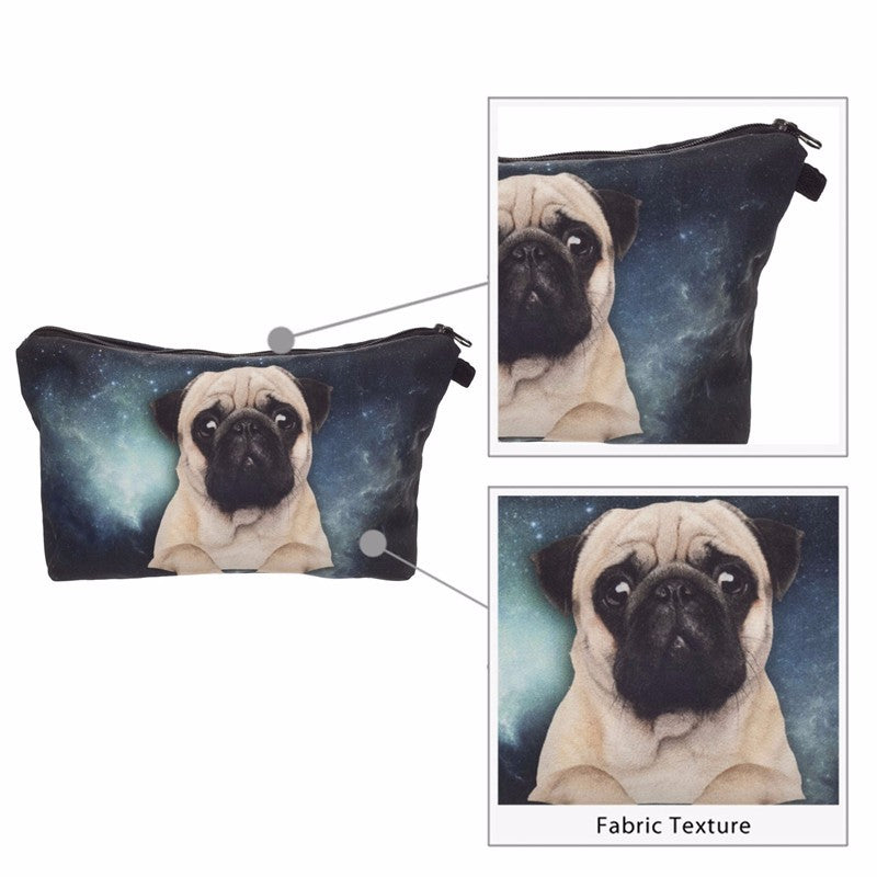 Galaxy Pug 3D Printing Cosmetic Bag Very Hot Product!