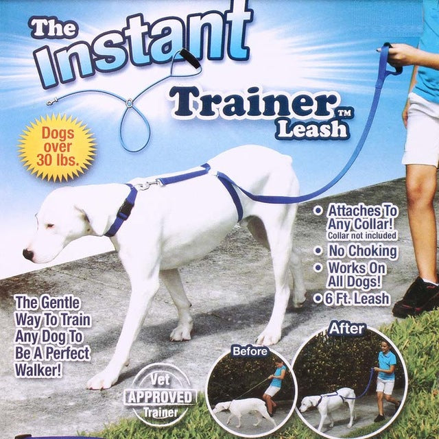 Instant Dog Trainer Leash Trains Dogs 30 Lbs Stop Pulling